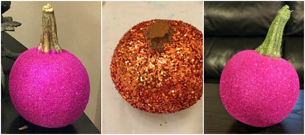 Glitter Pumpkin Stem Options