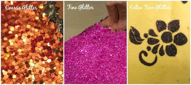 Glitter Sizes - Glitter Pumpkins