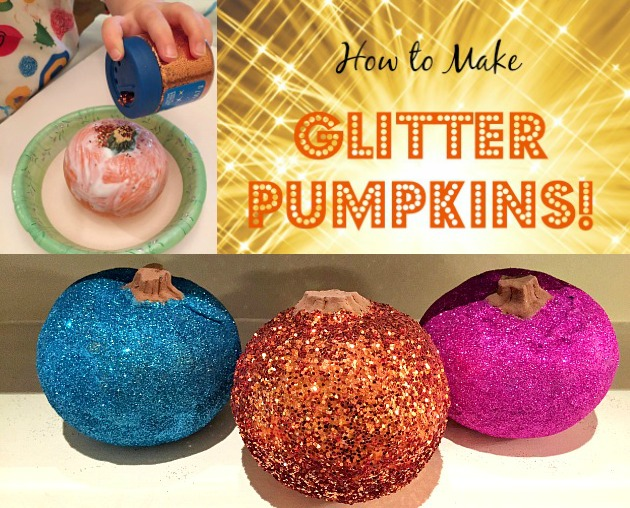How to Make Glitter Pumpkins Tutorial