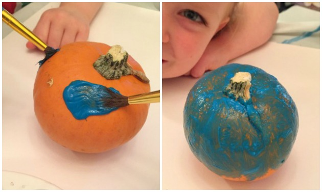 How to Make Glitter Pumpkins - Step 1