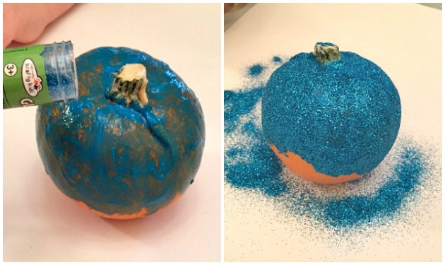 Glitter Pumpkins - No Carve Pumpkin Decorating Ideas