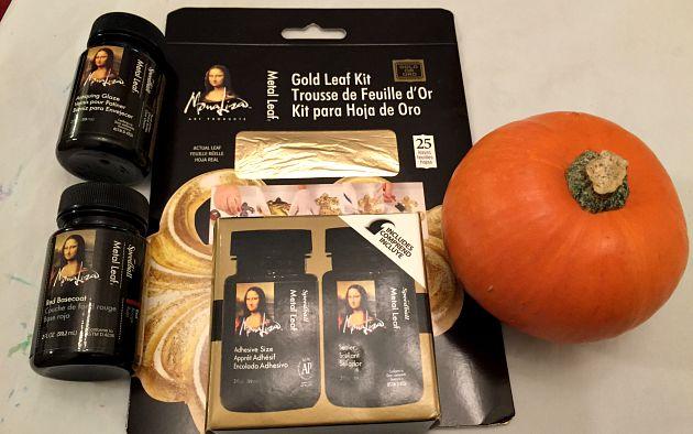 Gilded Pumpkins - Materials