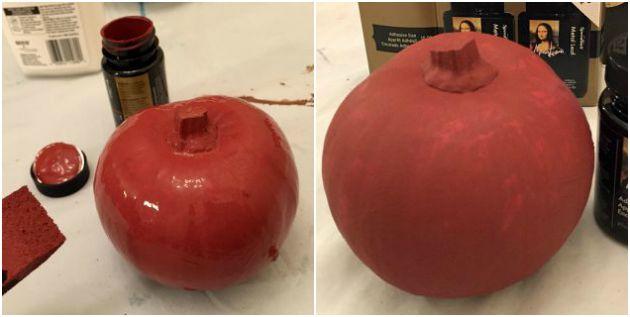 Gilded Pumpkins - Red Oxide Base Coat