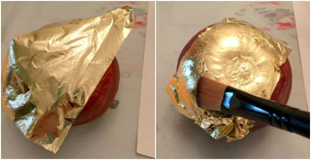 Pumpkins - How to Apply Gold Leaf