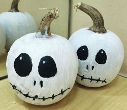 Jack Skellington Painted Pumpkins