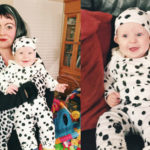 Cruella DeVille and 1 Dalmatian Mom and Baby Costume DIY