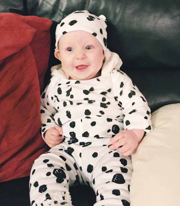 cute diy dalmatian pup costume for babies