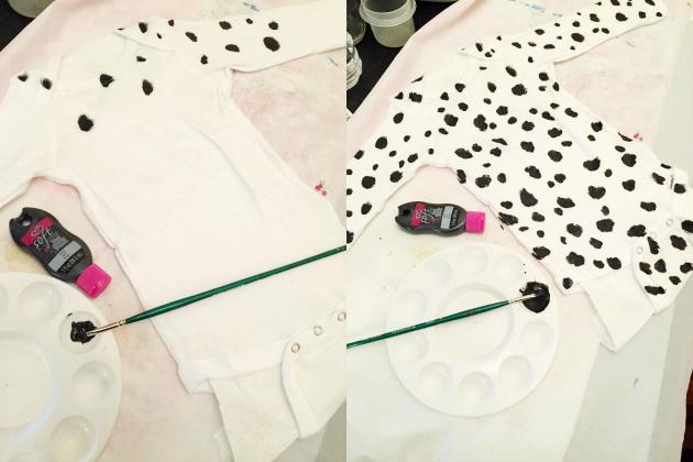 DIY Dalmatian Costume Bodysuit