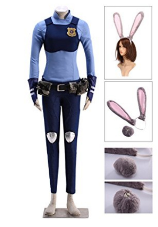 Zootopia officer judy hopps costumes isleofhalloween womens officer judy hopps costume halloween or cosplay solutioingenieria Images