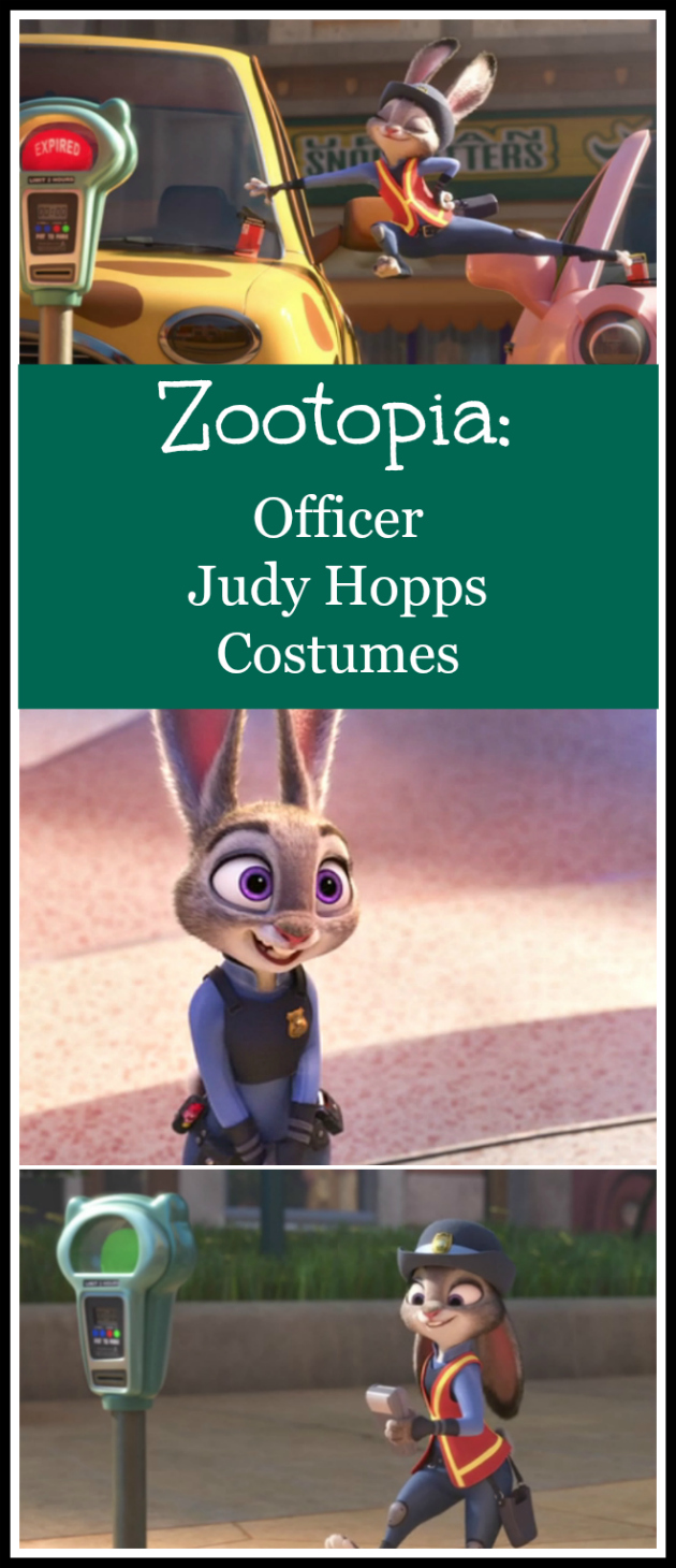 Zootopia Officer Judy Hopps Costumes - Buy Ready Made or DIY Ideaas